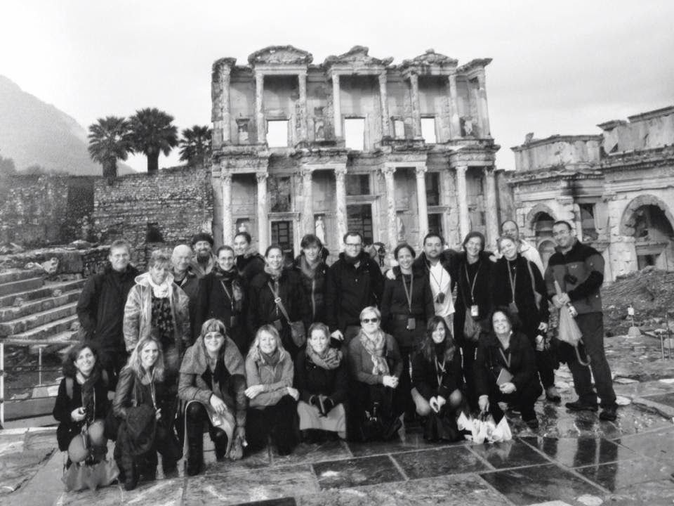 11.1 - Celsus Library in Ephesus and Rick Steves's guides. Photo by Mert Taner.